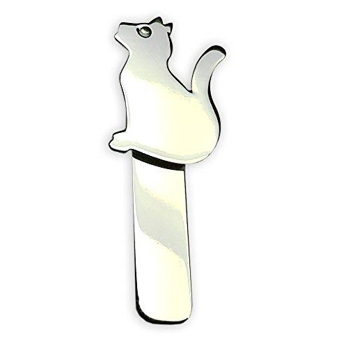 Segnalibro a forma di gatto in argento 925/1000