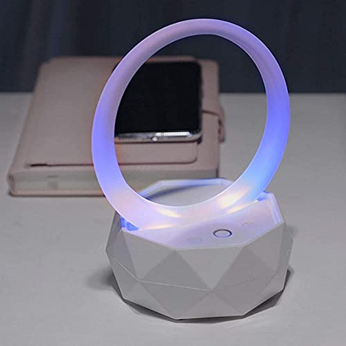 Altavoz Bluetooth Luces de la noche Reloj despertador Altavoz Bluetooth Reproductor MP3 Control táctil Lámpara de cabecera regulable RGB Multicolor Cambiante LED Lámpara de mesa-Azul