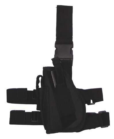 Ceinture tactique Noir leg- et beltfixing, GAUCHE
