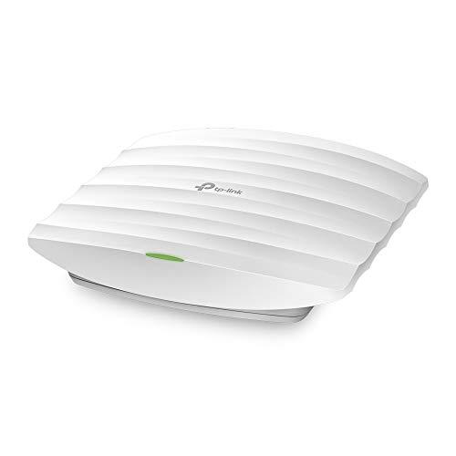 TP-Link EAP110 - Punto de Acceso Inalámbrico N300Mbps, WiFi Empresarial, Integración SND,Montable en Techo, Soporta PoE pasivo, Acceso a la Nube, Puerto Fast Ethernet