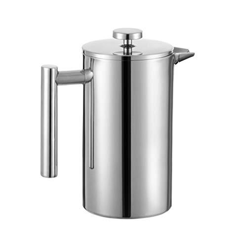 MIULY French Press Kaffeebereiter, 800 ml, 6 Tassen 350 ml Silber