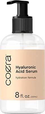 Hyaluronic Acid Serum   8oz   Paraben & SLS Free Moisturizer for Face and Skin   by Coera