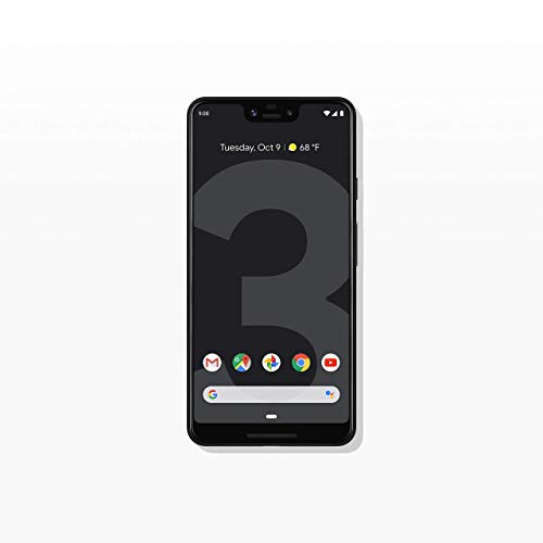 Google Pixel 3 XL Unlocked GSM/CDMA - US Warranty (Just Black, 64GB) (Renewed)