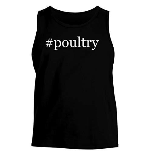 #poultry - Men's Hashtag Soft Graphic Tank Top, Black, Medium