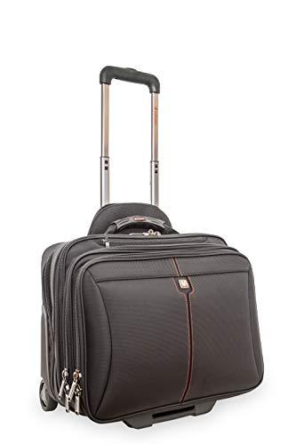 Verbatim Laptoptasche mit Rollen, Trolley Case für Notebook bis 39,6 cm (15,6 Zoll), Modell Frankfurt - schwarz