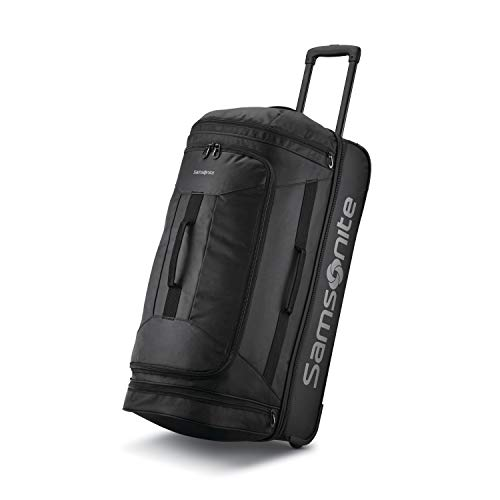 Samsonite Andante 2 Drop Bottom Wheeled Rolling Duffel Bag, All Black, 28-Inch