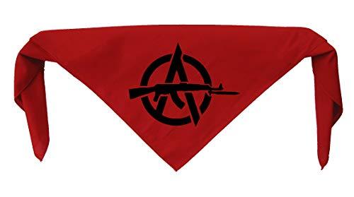 Anarchy Bandanna - Anti Authority Establishment Corporation Class War Social Political Activism Anarchism Government Media Anarcho Liberation Punk Earth Human Rights Welfare Animal Dog
