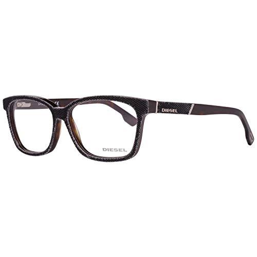 Diesel Brillengestelle DL5137 55056 Rund Brillengestelle 55, Schwarz
