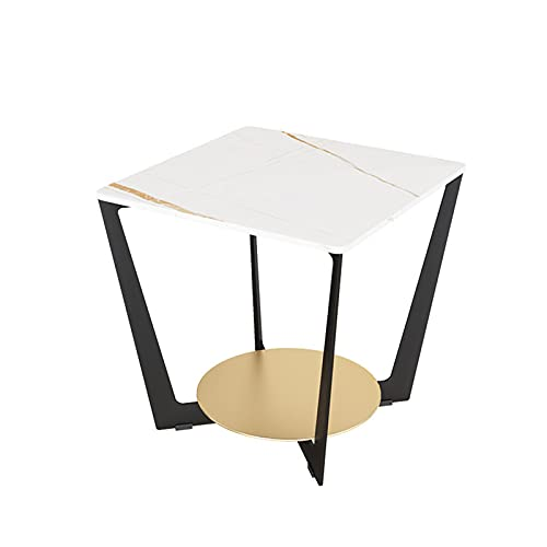 NAJING Soggiorno A 2 Piani Tavolino da caffè Tavolino da caffè Tavolino da Divano Comodino Camera da Letto Tavolino Rotondo Tavolino