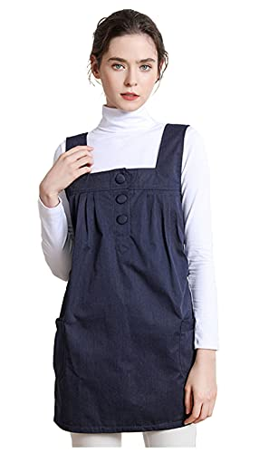 Anti-Radiation Maternity Clothes 360° Shielding Radiation,Shielding Clothing for Pregnant Radiation Pregnancy Clothes for Office Workers to Shield Computer Radiation,Navy Blue,XL