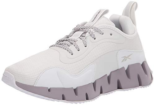 Reebok Women's Zig Dynamica Running Shoe, True Grey/White/Gravity Grey, 8.5