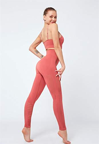 Rrui Panty voor dames, dames, zomer, vrouwen, yoga, pak, vrouwen, lente, tweedelig pak, geel, maat M.