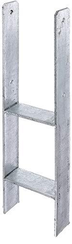GAH-Alberts 213893 H-Pfostenträger | feuerverzinkt | lichte Breite 141 mm | Gesamthöhe 600 mm | Materialstärke 6 mm