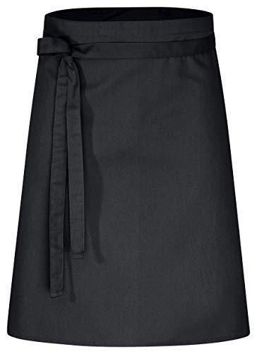 DESERMO Premium Vorbinder 60cm x 80cm (L X B) ✓ Hochwertige Taillen-Schürze für Frau & Mann ✓ Innovative Mischung aus Baumwolle & Polyester ✓ Große Farbauswahl ✓ 220g/m² (Schwarz)