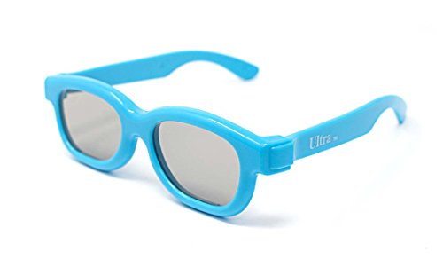 Ultra 3 Pairs of Blue Childrens Passive 3D Glasses Kids for Use with all...