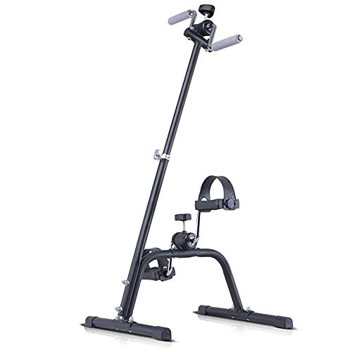 Mini bicicleta estática, Entrenador de Pies y Manos con altura ajustable y resistencia variable, para entrenamiento de ejercicios en casa/Black / 90x42.5x40.5cm