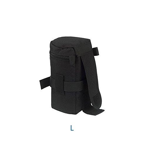 LXH Acolchado de nylon resistente al agua Lente de la cámara Funda con bolsa para Canon 100MM 70-300lS 75-300/Nikon 55-300 28-300 105VR 70-300 (L)