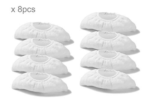 Supremery 8x Mikrofaser Tuchset kompatibel mit Kärcher Dampfreiniger EasyFix SC 2, SC 3, SC 4, SC 5 Überzugsset Handdüse