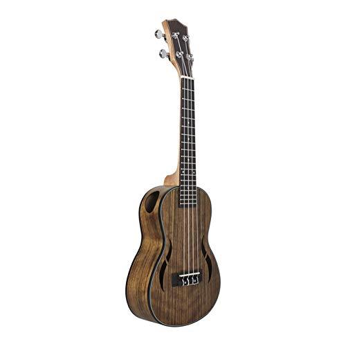 Kinderanfänger Erwachsene DIY Gitarre 21 24 26 Zoll Treble Tenor Ukulele Ukelele Uke Walnut Nylonsaiten Geschlossen Tuner Saiteninstrument (Size : 26 inches)