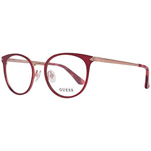 Guess GU2639 49069 Brillengestelle GU2639 069 Oval Brillengestelle 49, Rot