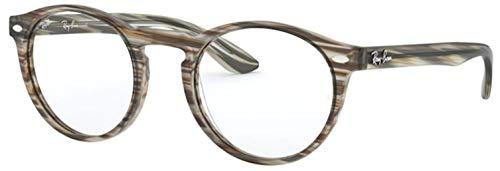 Ray-Ban 0RX5283 Monturas de gafas, Striped Brown Grey, 49 para Hombre