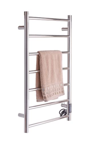Luxury Towel Warmer Wall Mounted Round Electric Towel stands with Switch,...