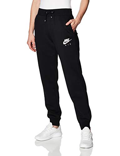 Nike Damen W NSW AIR Pant FLC BB Sport Trousers, Black/(Ice Silver), S