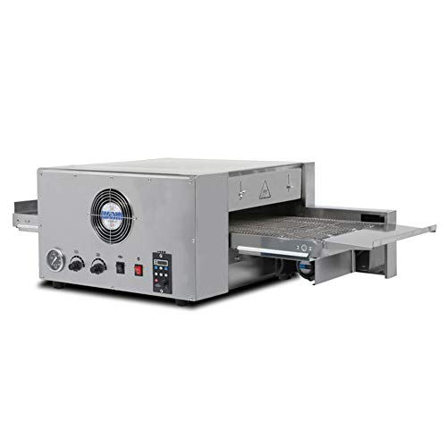 IDABAY Horno para Pizza Eléctrico, 6400W de Acero Inoxidable Combina la plancha +...