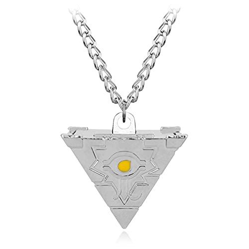 2 colores seksowne Anime Millenium Puzzle Millennium naszyjnik dla kobiet i mężczyzn biżuteria akcesoria Cosplay prezent-silver