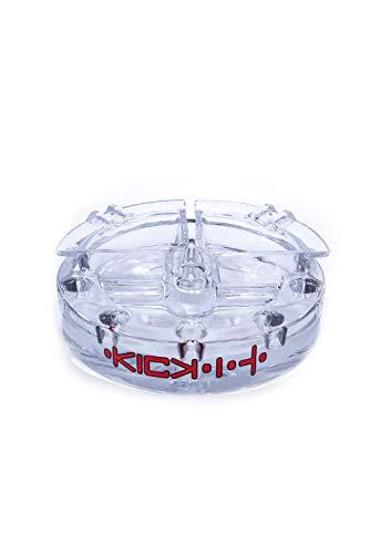 Kick-It Massiv-Aschenbecher | High Borosilikatglas 3.3 | Lebensmittelecht | geruchs- und geschmacksneutral | stabil und robust | Spülmaschinengeeignet