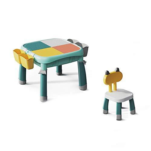 JTKDL Tabla de Actividades para niños, Mesa de Actividades de construcción con Almacenamiento Compatible con Bloques clásicos.