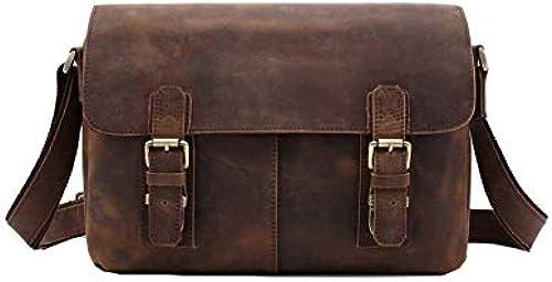 FRYP Herren Vintage braun Aktentasche, Business-Computer-Tasche, l ige Bürotasche, Größe Kapazit Umh etasche