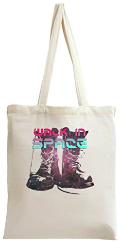 Galaxy Boots Walk In Space Tote Bag