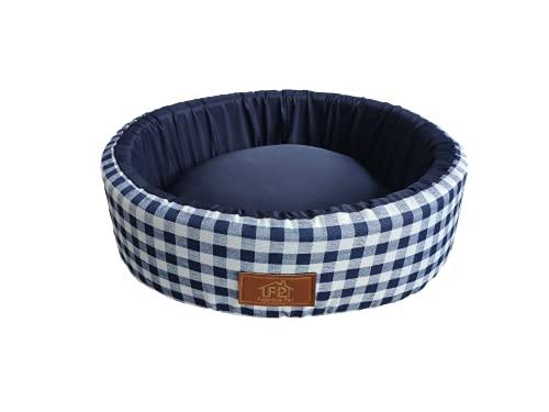 Cama Fábrica Pet para Cães, Pequeno, Azul