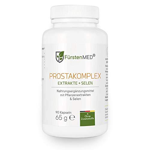 FürstenMED® Prosta Komplex - Prostata Kapseln mit Kürbiskern Extrakt + Granatapfel + Brennessel, Soja, Lycopene & Selen - Aus Deutschland ohne Zusatzstoffe