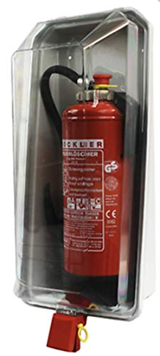 Klarsichtschutzbox für 6kg Feuerlöscher Feuerlöscherkasten Box Schnellverschlussvon MBS-FIRE®