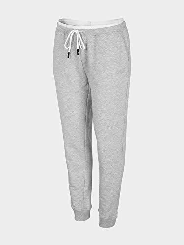 4F Fides - Pantalones de chándal para Mujer, Mujer, Pantalones de Correr, H4Z20-SPDD011-27M, Cold Light Grau Melange, XX-Large