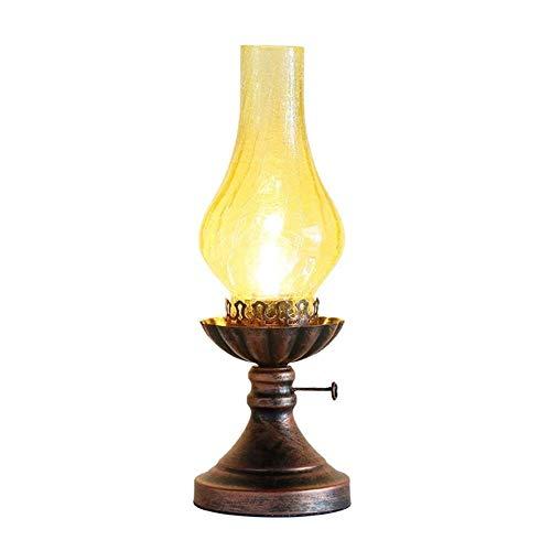 IRVING Vintage Petroleumlampe, Schlafzimmer Nachttischlampe Creative Cafe Tischlampe
