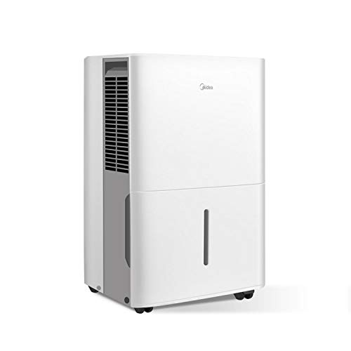 MIDEA MAD20C1ZWS Portable Dehumidifier 30 Pint with Reusable Air Filter, Ideal for basements, Bedroom, Bathroom, Pint (20 Pint New DOE), white