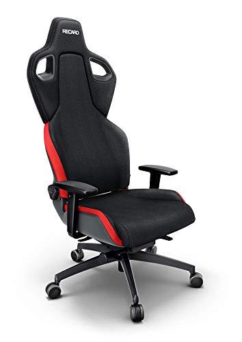 RECARO Exo Gaming Chair – Ergonomischer, höhenverstellbarer Stuhl für Gamer mit 4 Grundpositionen & Feinjustierung – Lava Red