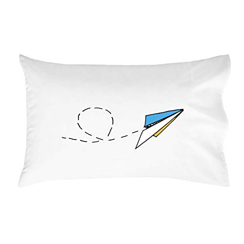 Oh, Susannah Paper Airplane Toddler Size Pillowcase (1 Pillow Cover 14 x 20.5 Inches) for Youth or Toddler Bedding as Kids Room Decor