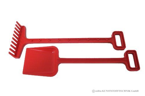 Gartengeräte Set für Kinder Spaten + Rechen rot