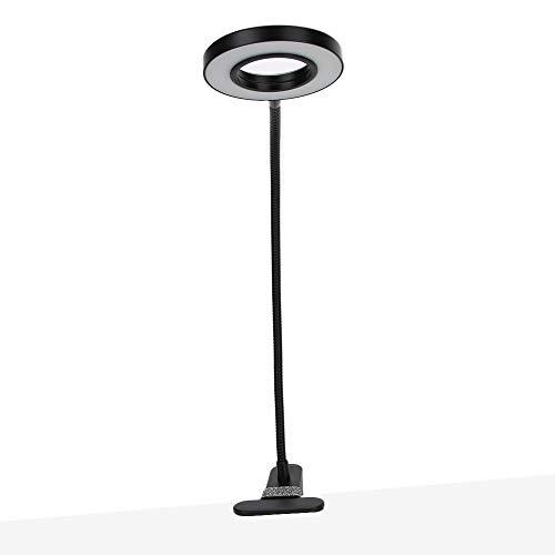 Lámpara de lectura LED, flexible 360 ° Clip-On Home Book Bed, lámpara de computadora para maquillaje y protección de ojos de uñas, cirugía de uñas con clip