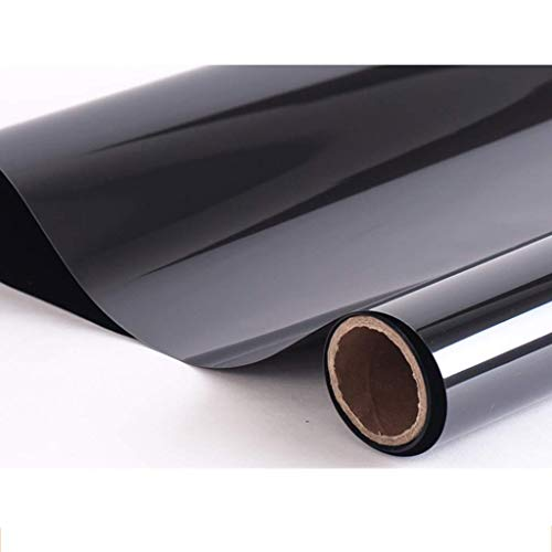 ZXL raamfolie zwart glasfolie isolatie zonwering zonwering balkon slaapkamer verduisterende sticker isolatierate: 75% 30 * 100 cm (grootte: 70 * 100 cm)