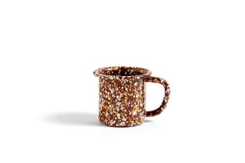 Enamel Sprinkle braun Tasse Hay