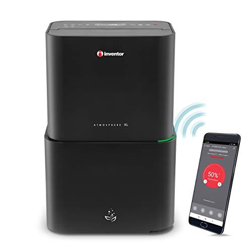 Inventor Atmosphere XL 25L, 2 en 1 Purificador de Aire – Deshumidificador con Filtro HEPA, Ionizador, Indicador de Calidad de Aire, UVC, Wi-Fi para Acceso Remoto, Modo Secadora, Modo Nocturno