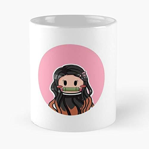 Hockey Nezuko Slayer Yaiba No Demon Kimetsu Best 11 oz Kaffeebecher - Nespresso Tassen Kaffee Motive