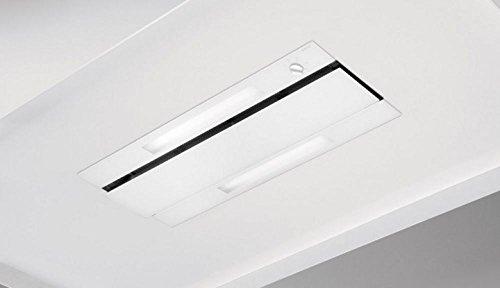 Novy 878 Dunstabzugshaube, 960 m³/h, Deckenmontage, transparent, Weiß – Dunstabzugshauben (960 m³/h, Leitung, 60 dB, Deckeneinbau, Transparent, Weiß, Glas, Edelstahl)