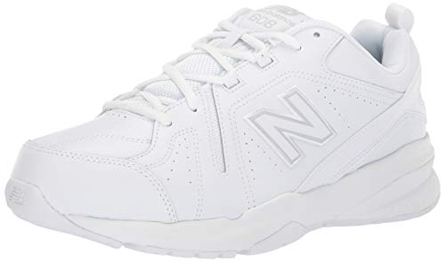 New Balance Men's 608 V5 Casual Comfort Cross Trainer, White/White, 13 W US
