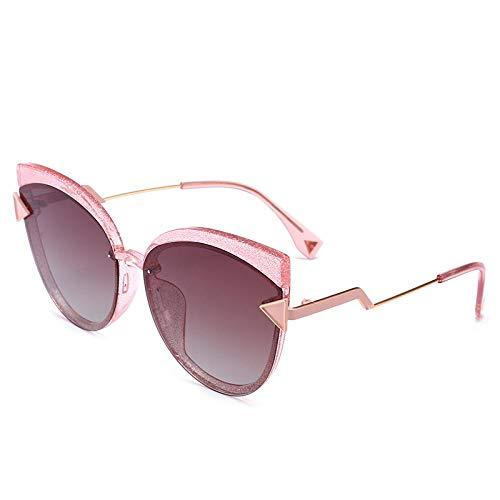 XIMAO Gafas De Sol De Moda Gafas De Conducción De Conducción Marco Grande Espejo Tendencia Gafas De Sol Clásicas Anti-Ultravioleta C3 Barbie En Polvo